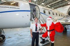 Le père Noël remonte vers son royaume distribuer des cadeaux au Nunavik