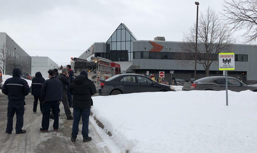 Alarme incendie à Poste Canada