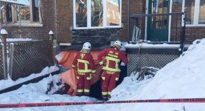 Intervention sur une structure dangereuse à Québec