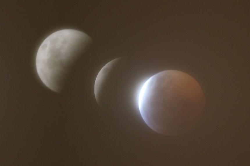 Éclipse lunaire captée localement