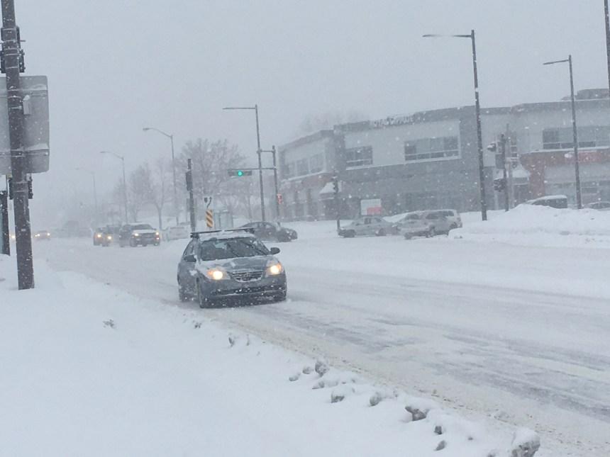 Un cocktail météo qui dérange les déplacements à Québec