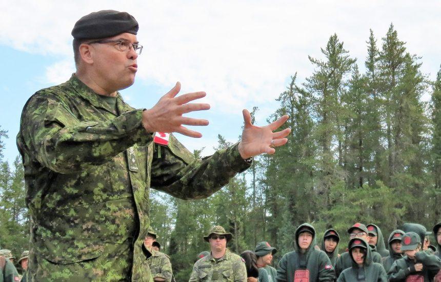 Un huron-wendat à la tête de l'armée