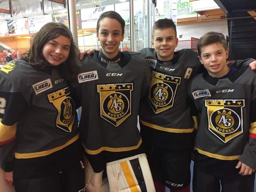 Tournoi International de Hockey Pee-Wee de Québec: quatre Beauportois dans l'uniforme des mini-Remparts