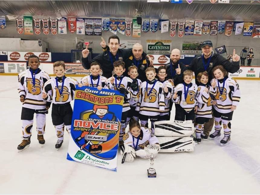 Les Éperviers de Beauport remportent le tournoi de Saint-Éphrem