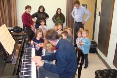 Des enfants au Conservatoire de musique de Québec