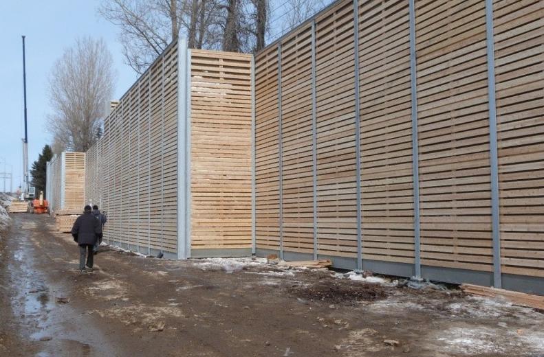 Des travaux nocturnes pour le mur antibruit
