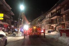 Un incendie force l'évacuation d'un bloc dans Limoilou