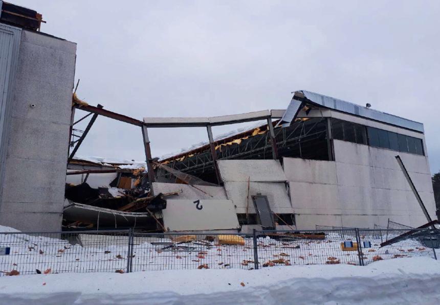 Un édifice s'effondre à Saint-Augustin-de-Desmaures