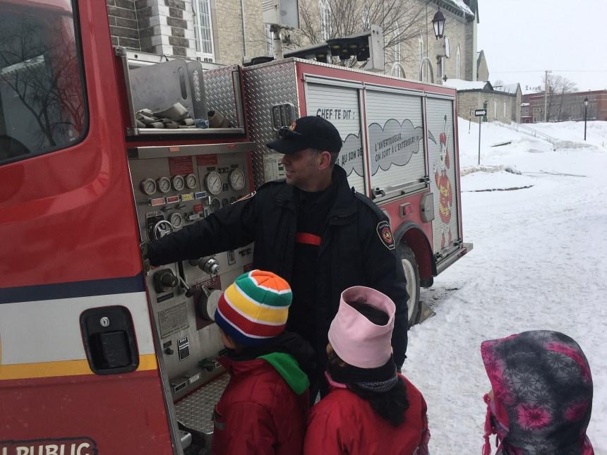 Les pompiers font des heureux à Beauport.
