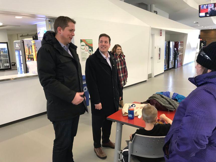 Andrew Scheer en visite à Beauport