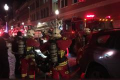 Incendie sur la rue Saint-Joseph