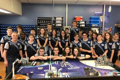 Les robots de la classe de Gino aux championnats mondiaux