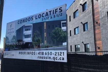 Nouveau développement résidentiel sur la rue Seigneuriale
