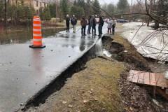 Lac St-Charles – Danger d'effondrement de la rue du Beau-Site