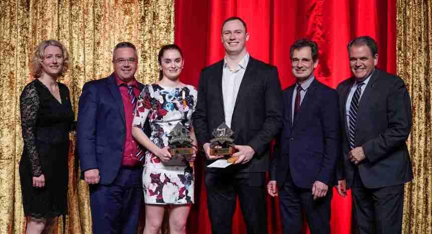 68e édition du Gala Rouge et Or: Sarah-Jane Marois et Mathieu Betts remportent les prix les plus convoités