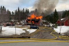 Une maison détruite par le feu à Sainte-Brigitte-de-Laval
