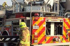 Incendie à la toiture d'un bâtiment à Saint-Émile