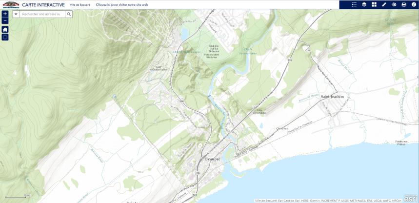 Nouvelle carte interactive de Beaupré