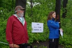 Des citoyens militent contre la coupe d'arbres du Boisé de Rochebelle