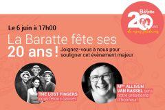 Festivités d'envergure pour souligner les 20 ans de La Baratte