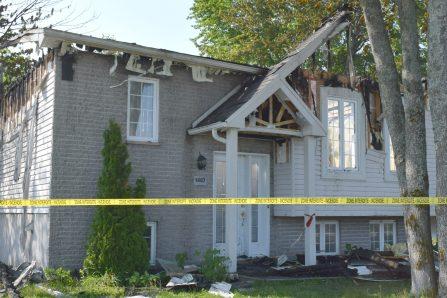 Secteur Val-Bélair  – Une maison détruite par le feu