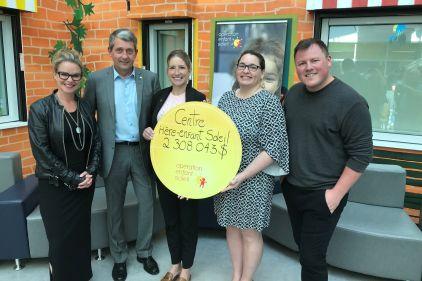 Plus de 2,3M$ remis au Centre mère-enfant Soleildu CHU de Québec