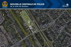 Les quartiers de la nouvelle centrale de police près de l'autoroute Laurentienne