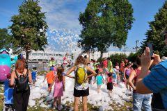 Le parc de La Chanterelle bondé d'enfants
