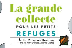 Grande collecte pour petits refuges à la Zoozoothèque