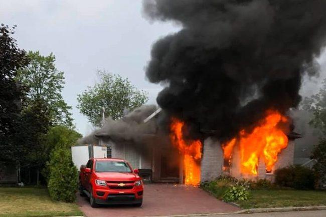 Maison unifamiliale détruite à Val-Bélair