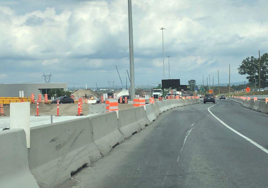 Travaux d'élargissement de l'autoroute Henri-IV