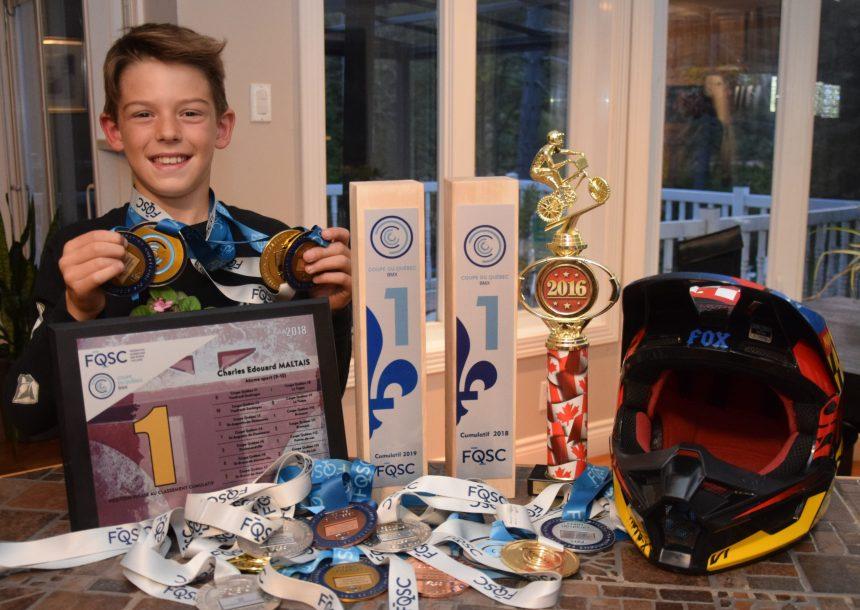 Coupe du Québec BMX – Champion provincial expert à 10 ans