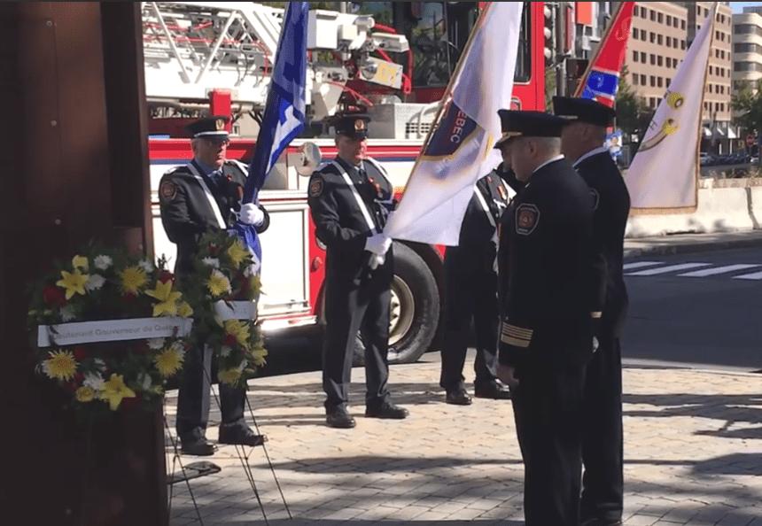 46e cérémonie de commémoration des pompiers morts en devoir