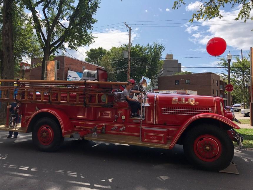 Les pompiers font le show