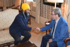 Jagmeet Singh rencontre Régis Labeaume