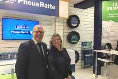 Boutique éphémère pour Pneus Ratté à Laurier
