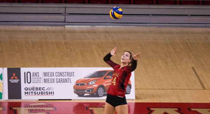 Volleyball féminin – Victoire du Rouge et Or contre Ottawa