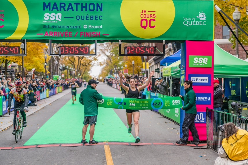 Marathon de Québec: trois coureurs de la région sur le podium