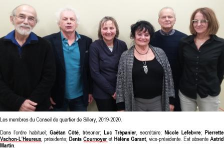 Présentation des membres du conseil de quartier de Sillery