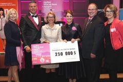 Québec ville en rose rapporte 250000$