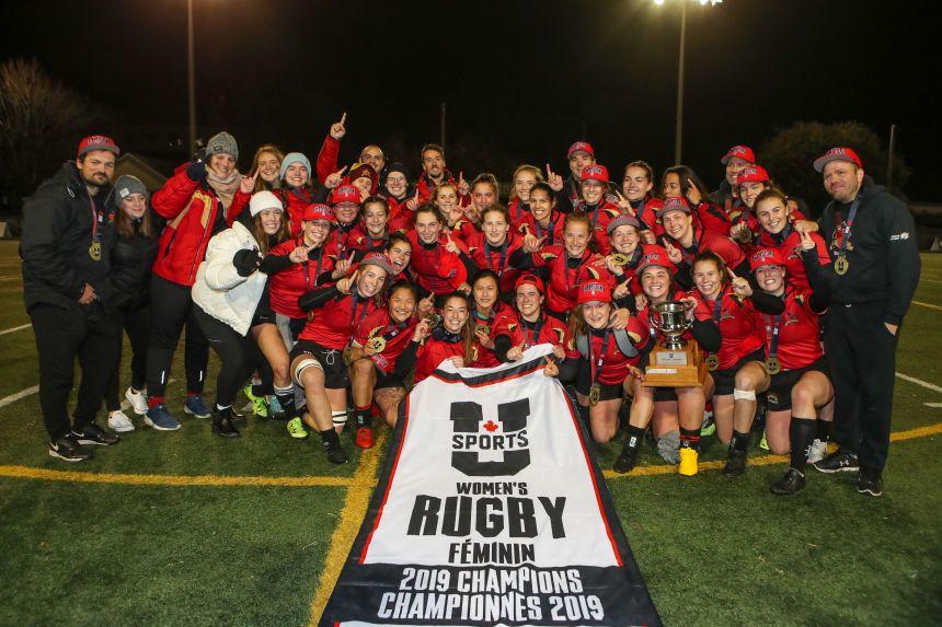 Rugby féminin: triomphe historique du Rouge et Or