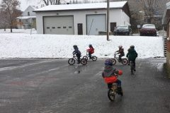 Des vélos dans ma cour d'école