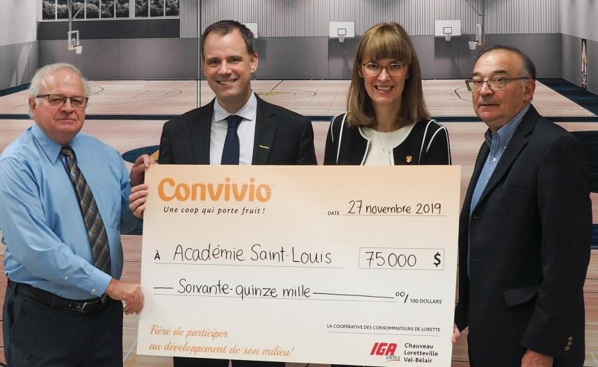 Convivio IGA extra soutient l'Académie Saint-Louis