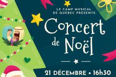 Le Camp musical de Québec présente un concert de Noël