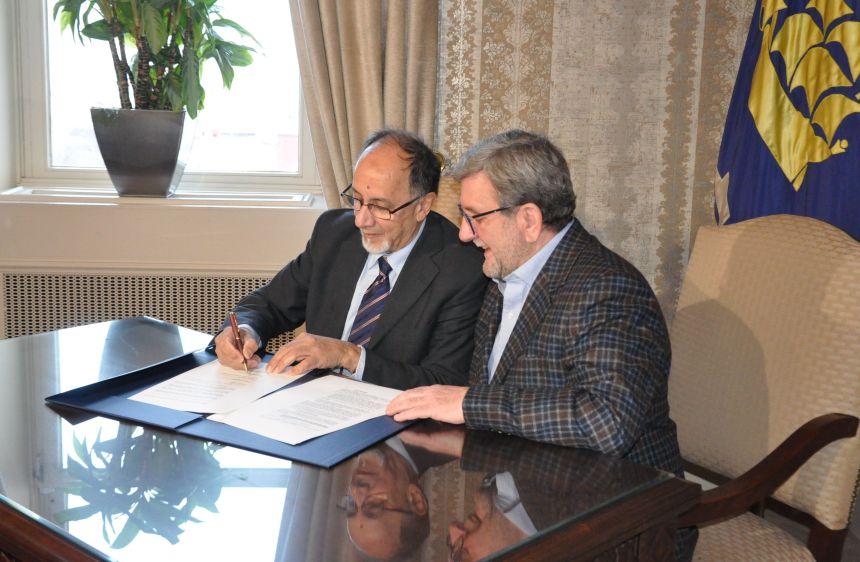 Signature officialisant le cimetière musulman de Québec