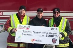 Les pompiers de Beaupré récoltent 11 300$ pour deux bonnes causes