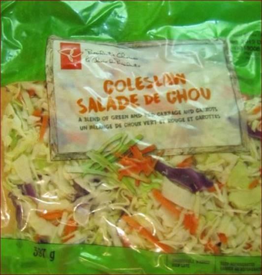 Rappel de Salade de chou de marque Le Choix du Président en raison de la bactérie Salmonella