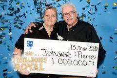 Un couple de Québec remporte 1M$ royal