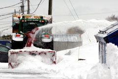 Précipitations de neige: opérations de déblaiement en cours