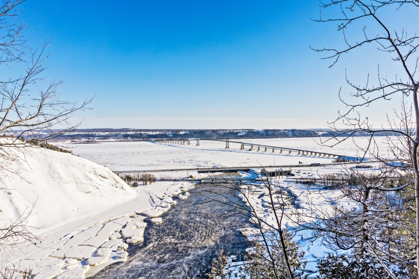 Fermeture du pont de l'Île d'Orléans